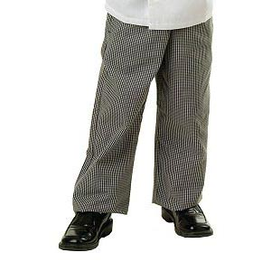 Kid's Checkered Baggy Chef Pants- Small