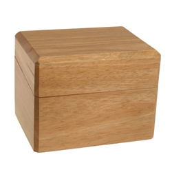 Wood Recipe Box for 3