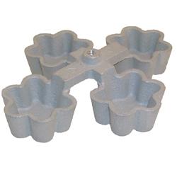 Rosette Mold-4 in 1 Tart Shell