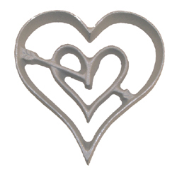 Rosette Mold-Double Heart
