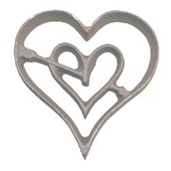 Rosette Mold-Double Heart