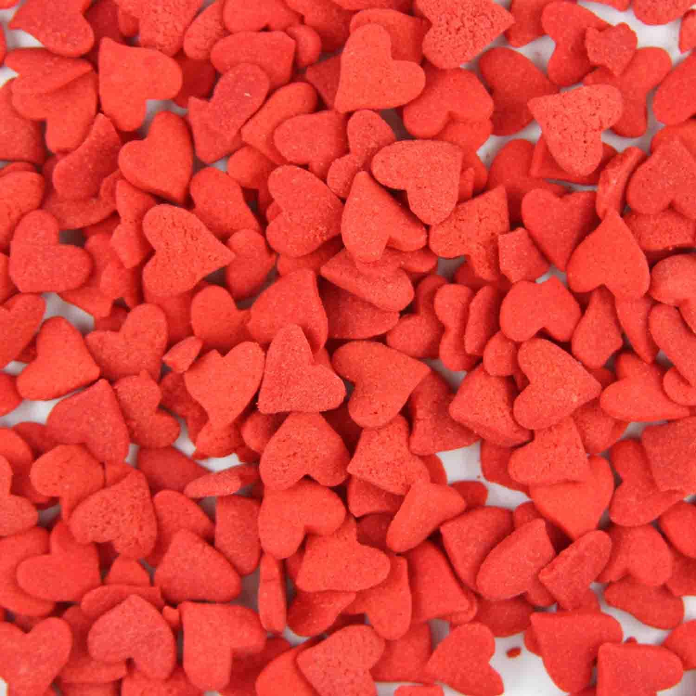 Jumbo Red Hearts Edible Confetti Sprinkles