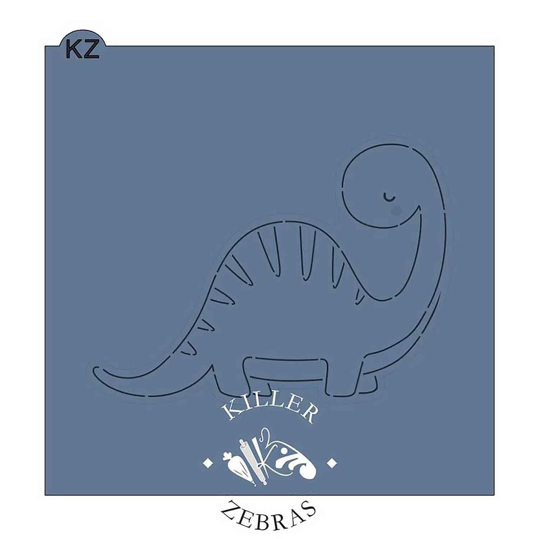 Baby Brontosaurus Stencil