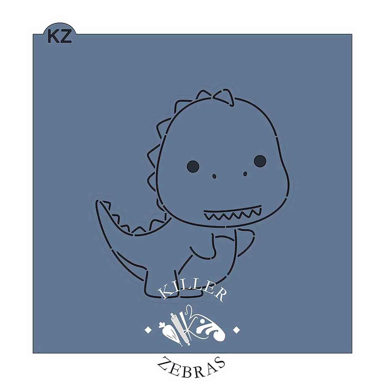 Baby T-Rex Stencil