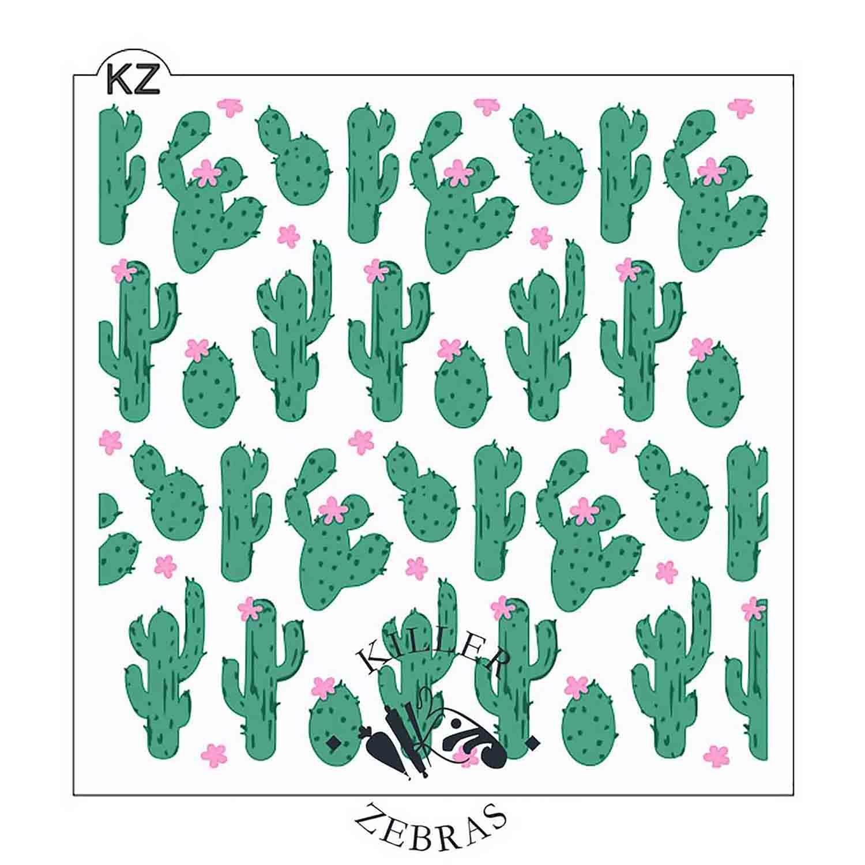 Cactus Garden Stencil Set