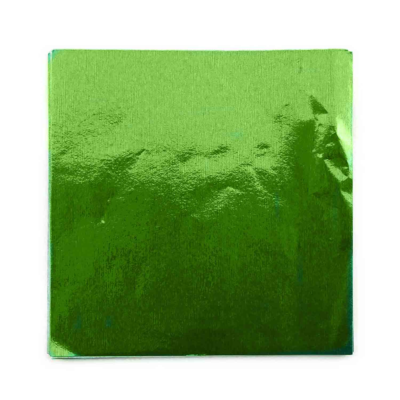 """3.25"""" x 3.25"""" Foil Wrapper Chartreuse"""