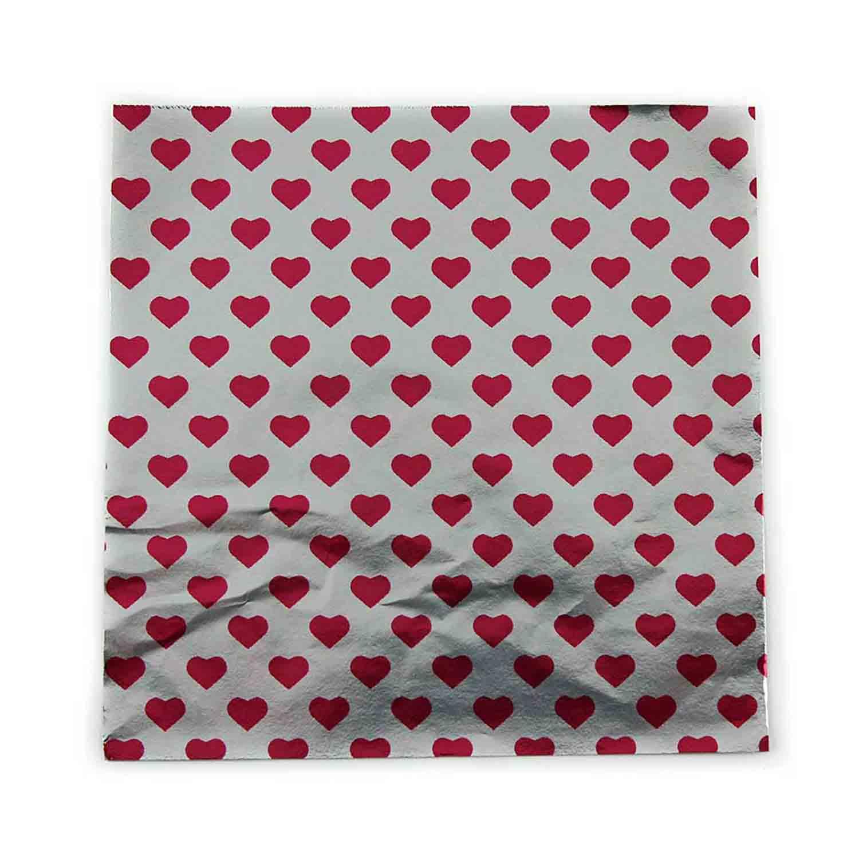 "3.25"" x 3.25"" Foil Wrapper Hearts"