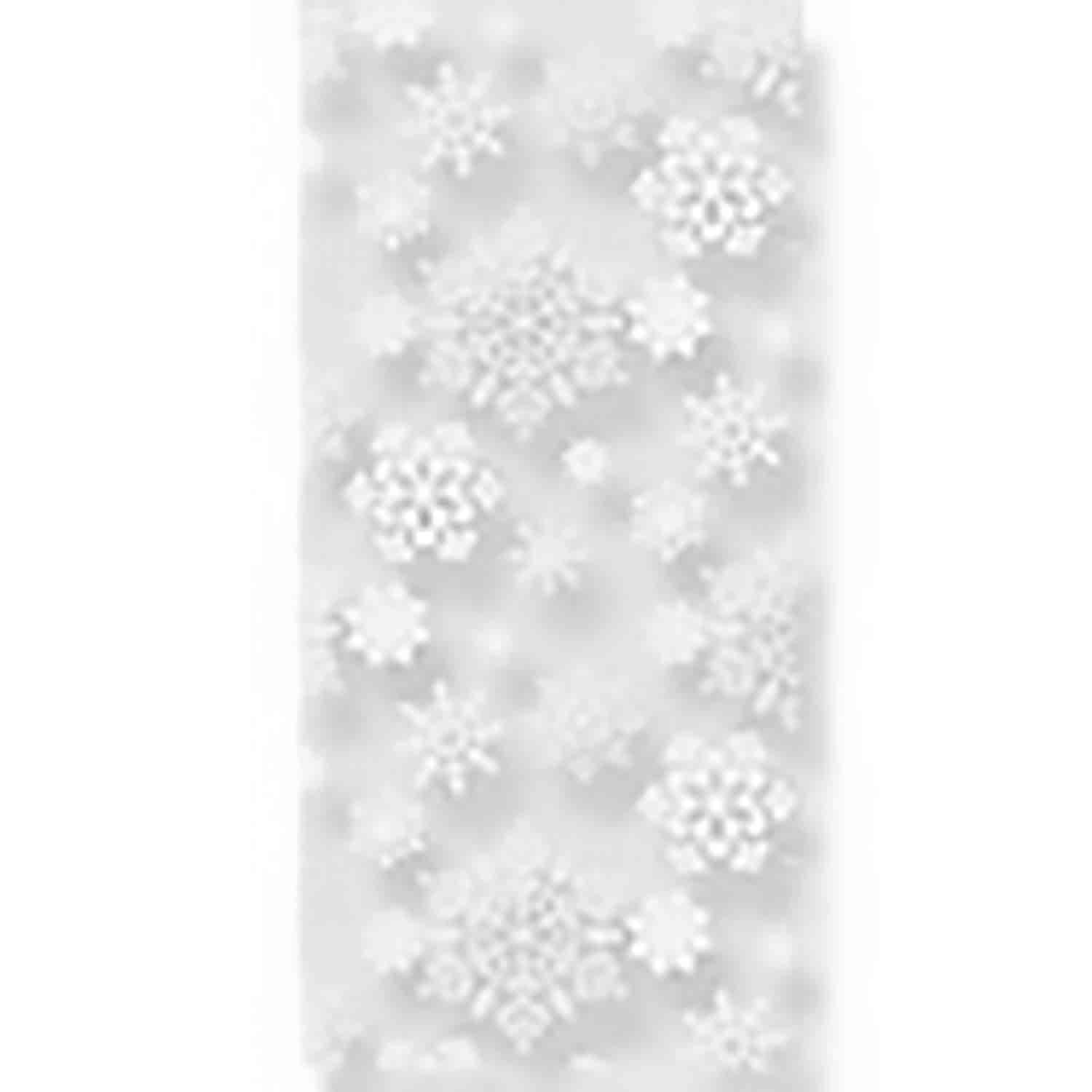 "4"" x 2 3/4"" x 9"" Snowflake Cellophane Bag"