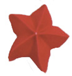 Royal Icing Star - Red