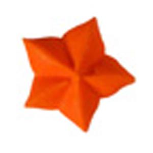 Royal Icing Star - Orange