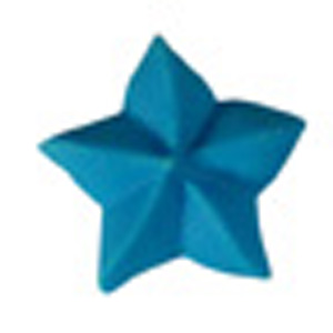 Royal Icing Star - Bright Blue