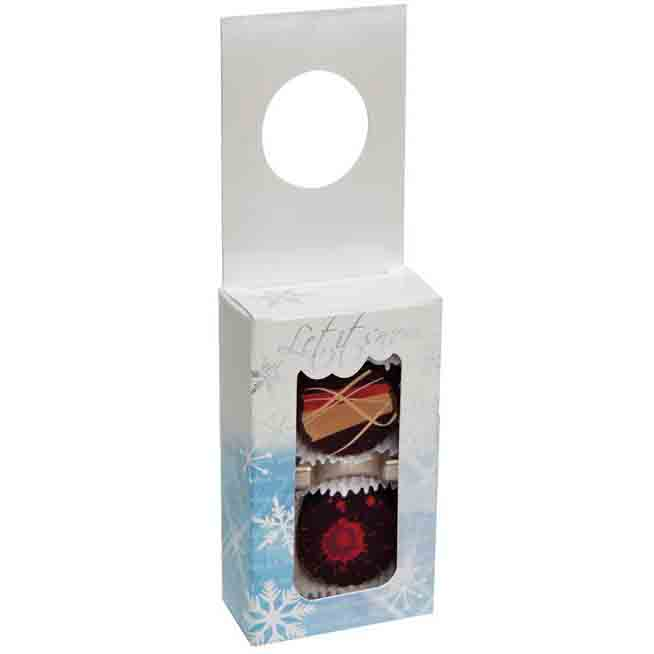 2 pc. Let It Snow Hanging Candy Box w/ Window