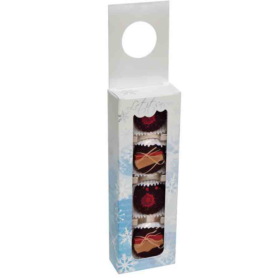4 pc. Let It Snow Hanging Candy Box w/ Window