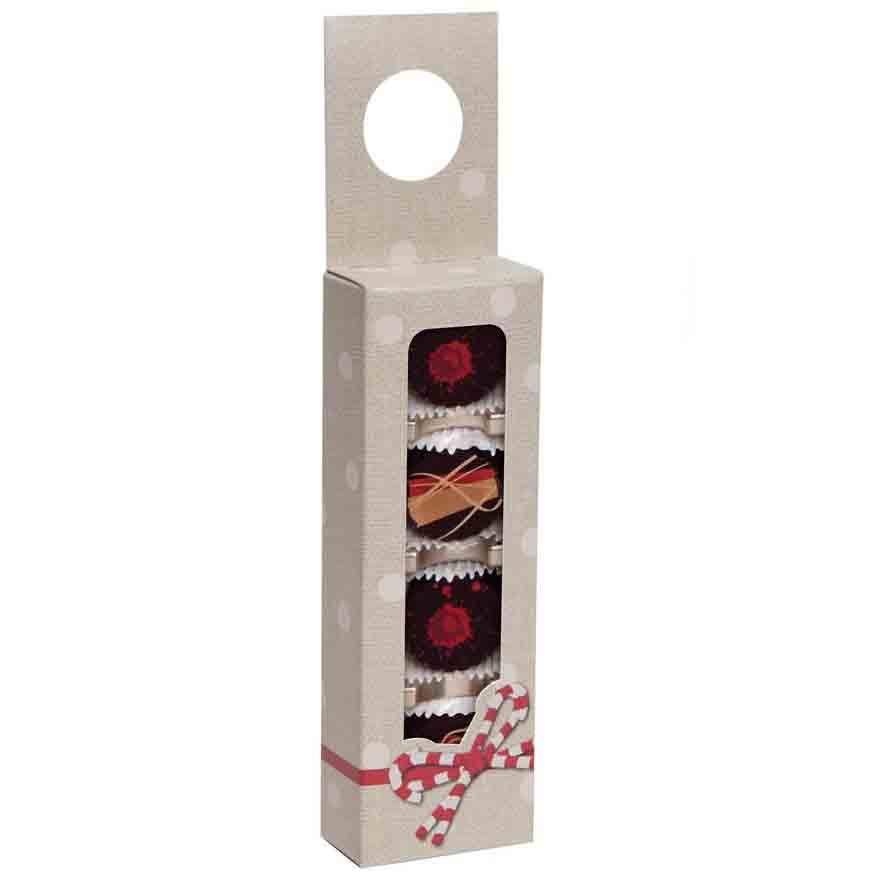 4 pc. Candy Ribbon Hanging Candy Box w/ Window