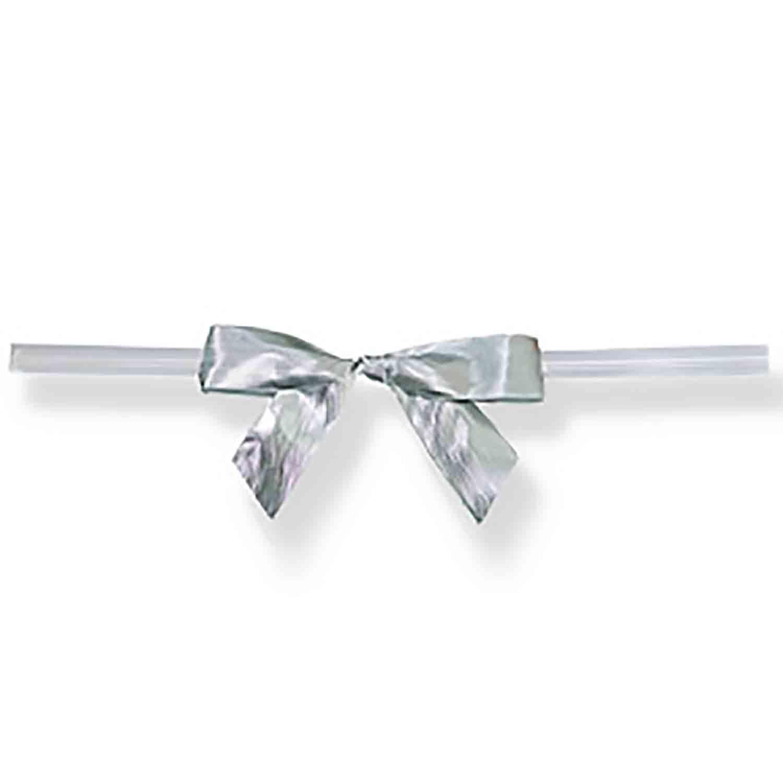 Silver Twist Tie Bows