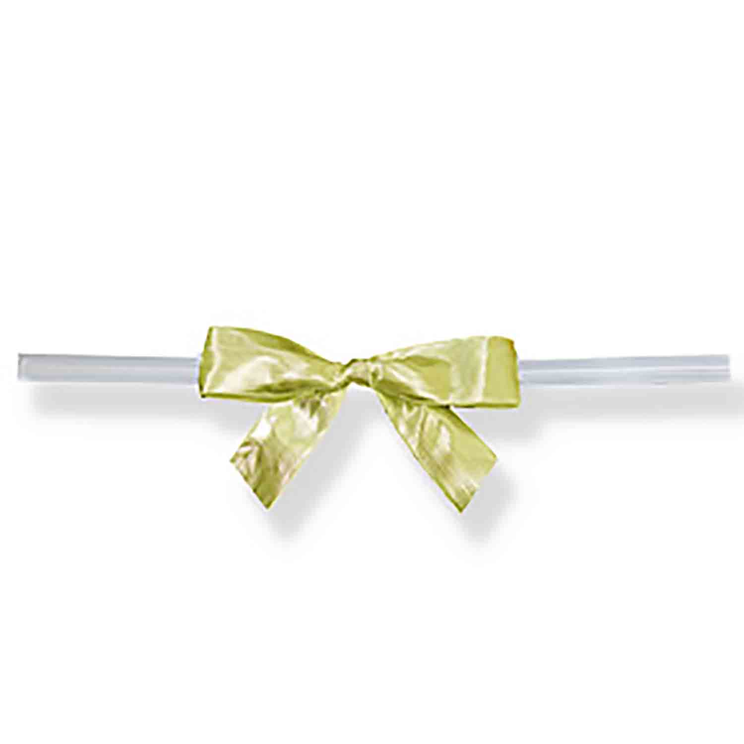 Gold Twist Tie Bows