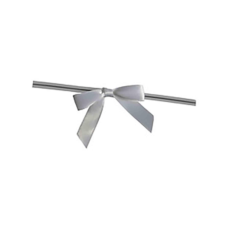 White Twist Tie Bows