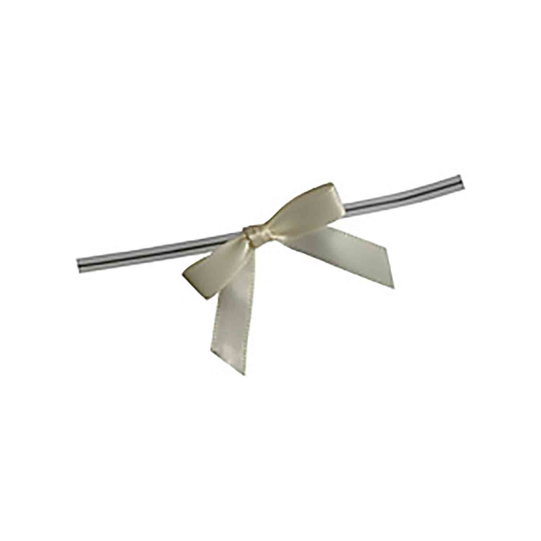 Ivory Twist Tie Bows