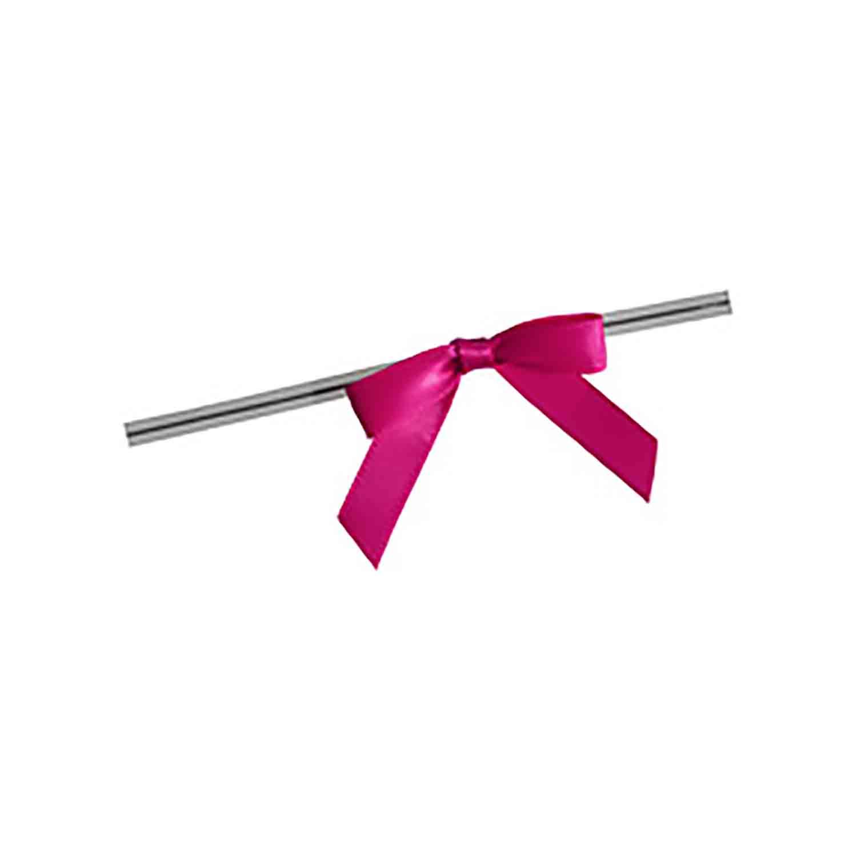 Hot Pink Twist Tie Bows