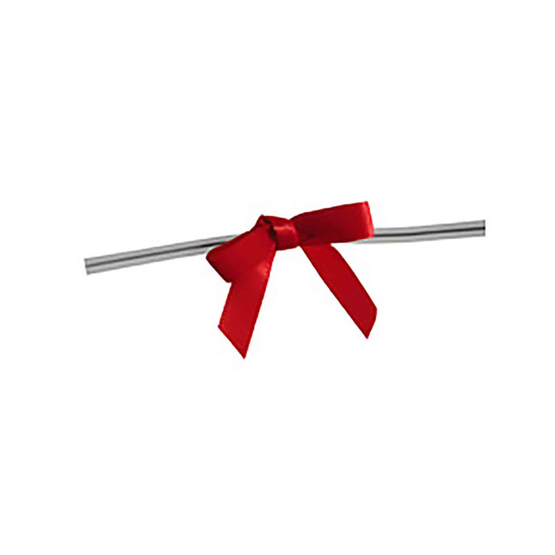 Red Twist Tie Bows