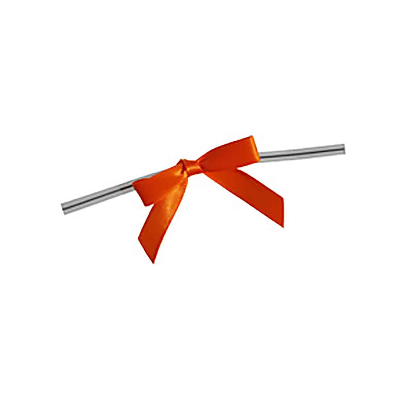 Orange Twist Tie Bows