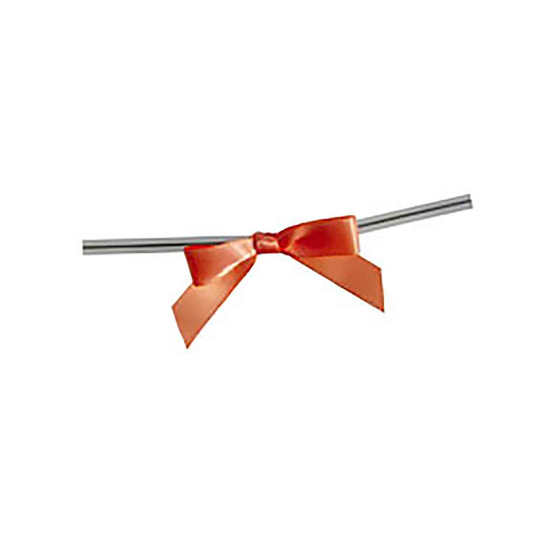 Peach Twist Tie Bows