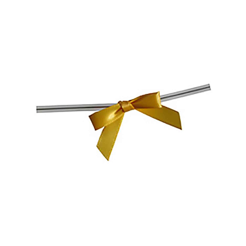 Golden Yellow Twist Tie Bows