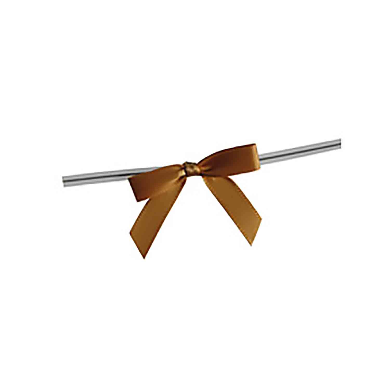 Old Gold Twist Tie Bows