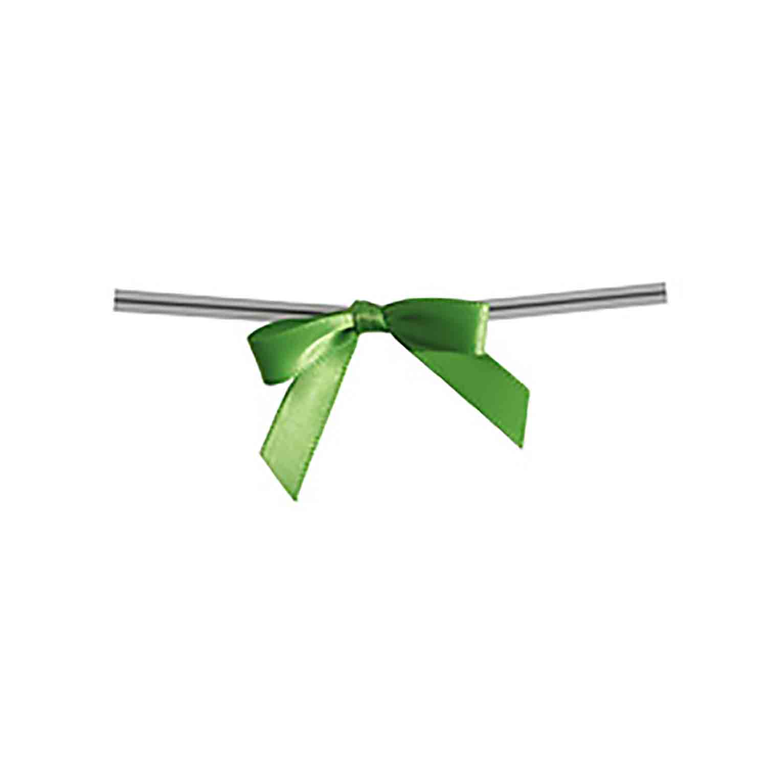 Kiwi Green Twist Tie Bows