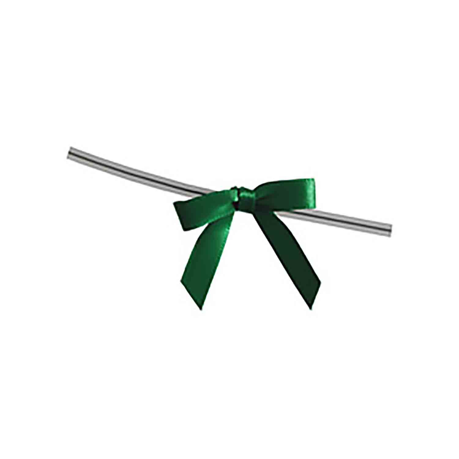 Emerald Green Twist Tie Bows
