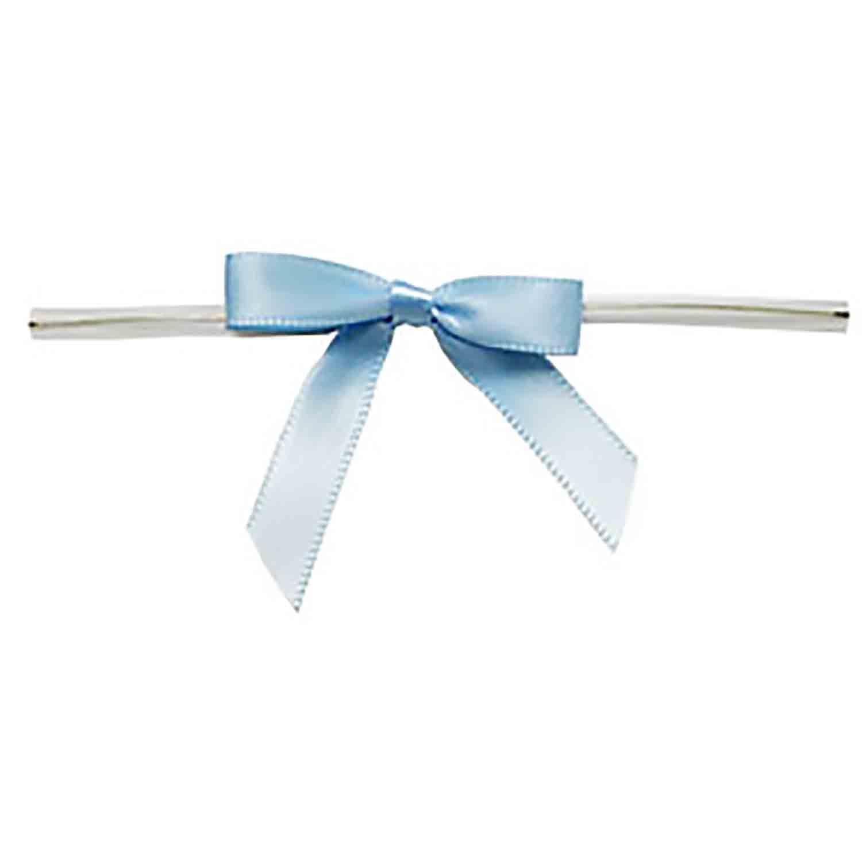 Light Blue Twist Tie Bows