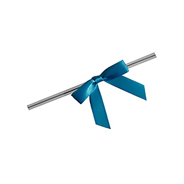 Turquoise Twist Tie Bows