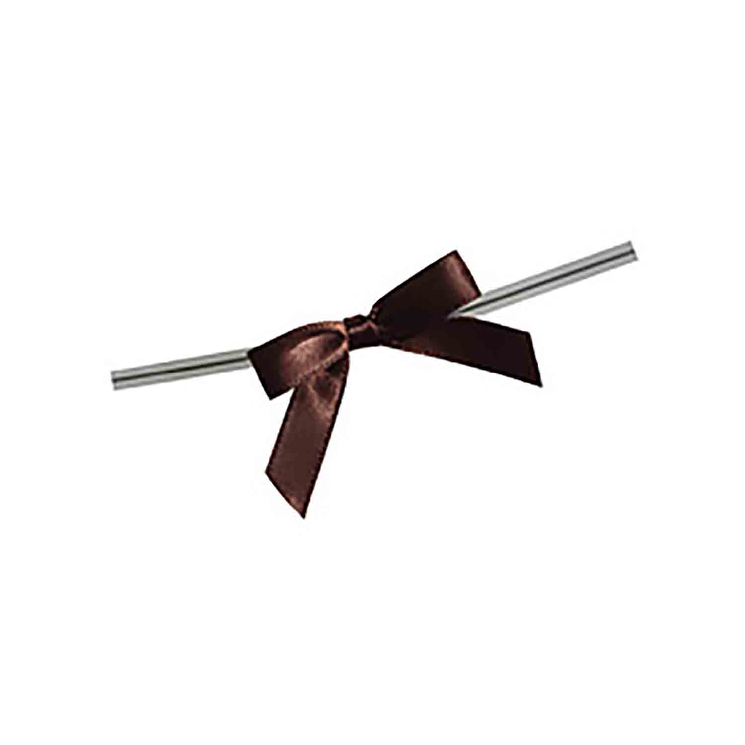 Brown Twist Tie Bows