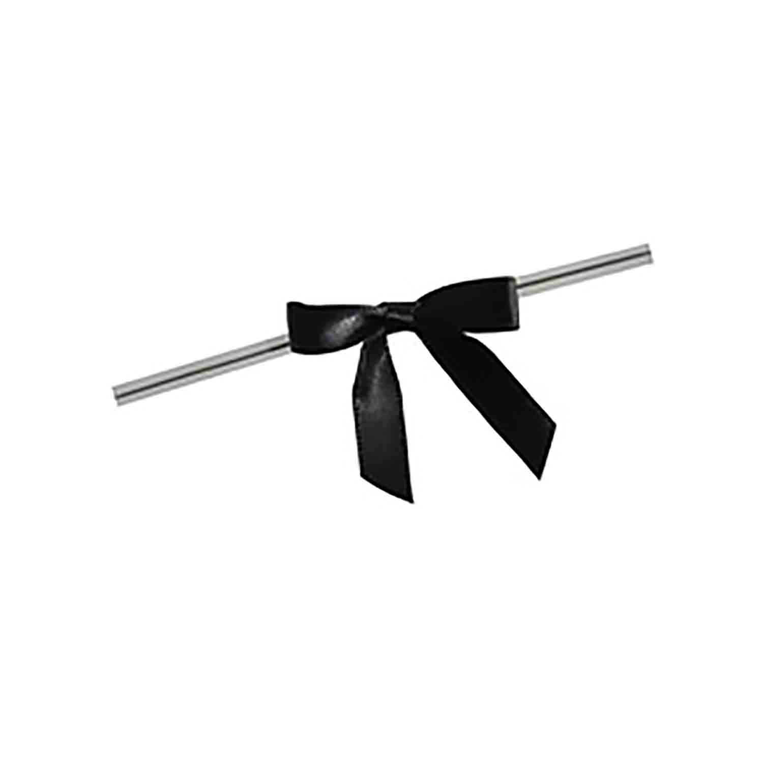 Black Twist Tie Bows
