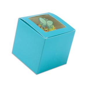 Blue 1 Ct. Cupcake Box with Window