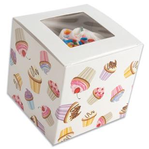 Cupcake Print 1 Ct. Cupcake Box with Window