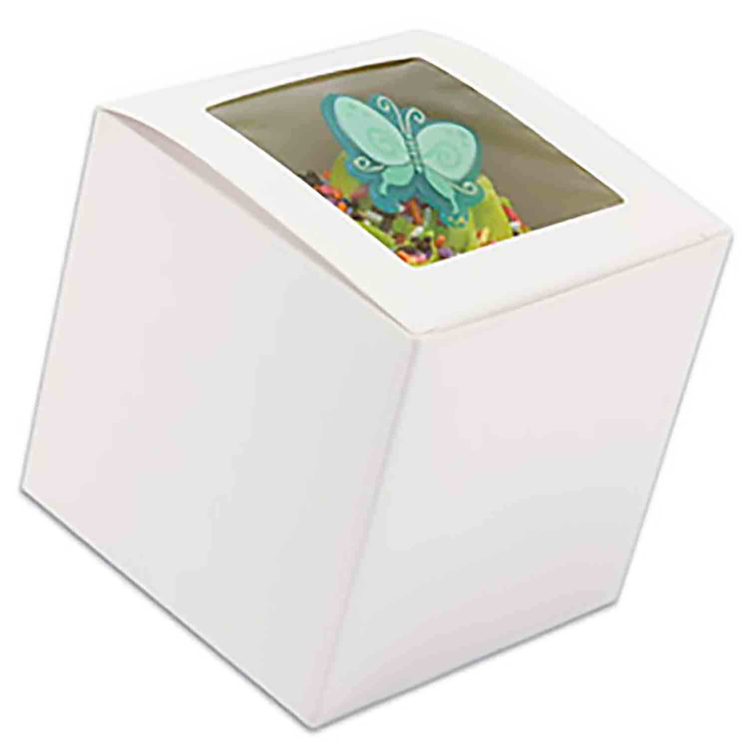 White 1 Ct. Cupcake Box with Window