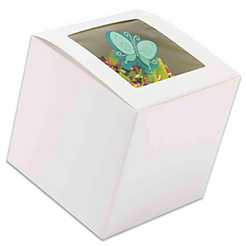 White 1 Ct. Cupcake Box with Window