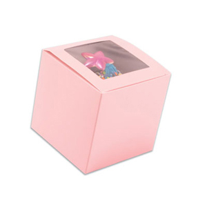 Pink 1 Ct. Cupcake Box with Window