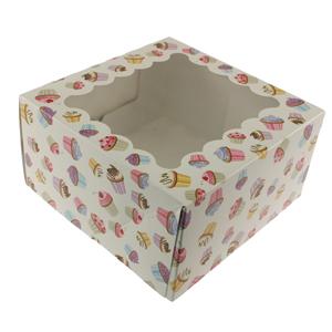 Cupcake Print 4 Ct. Cupcake Box with Window