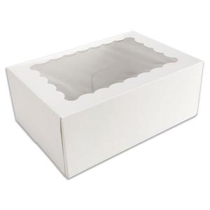 White 6 Ct. Cupcake Box with Window