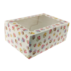 Cupcake Print 6 Ct. Cupcake Box with Window
