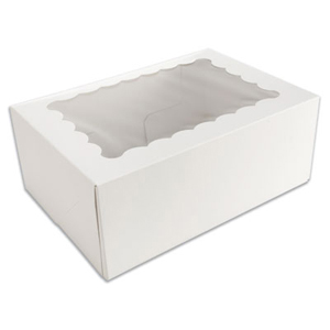 White 6 Ct. Cupcake Box with Window