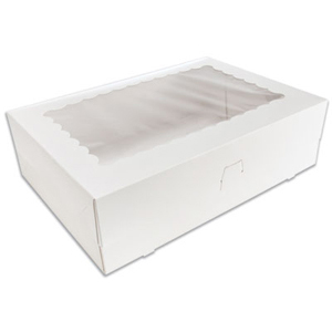 White 12 Ct. Cupcake Box with Window