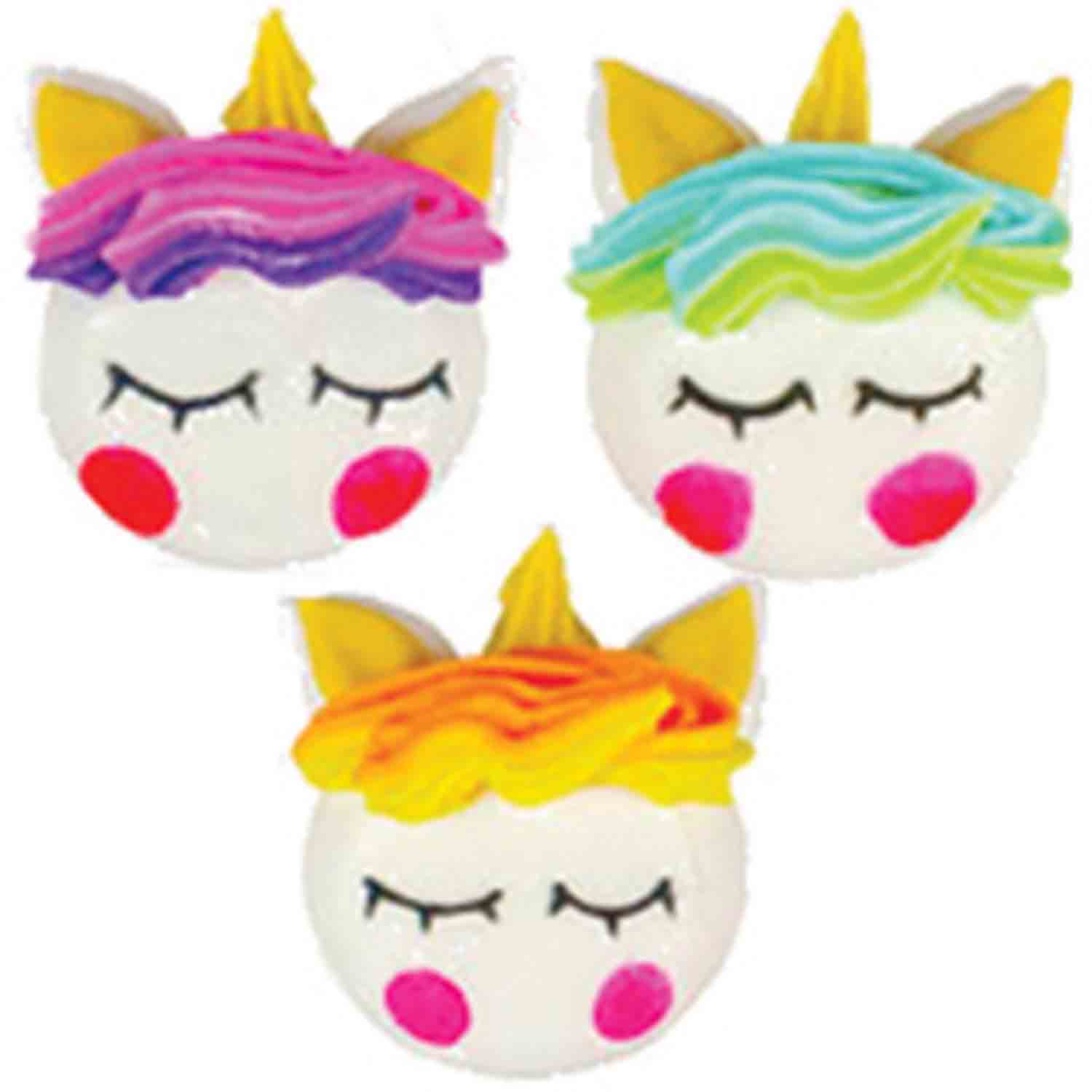 Unicorn Faces Icing Layons