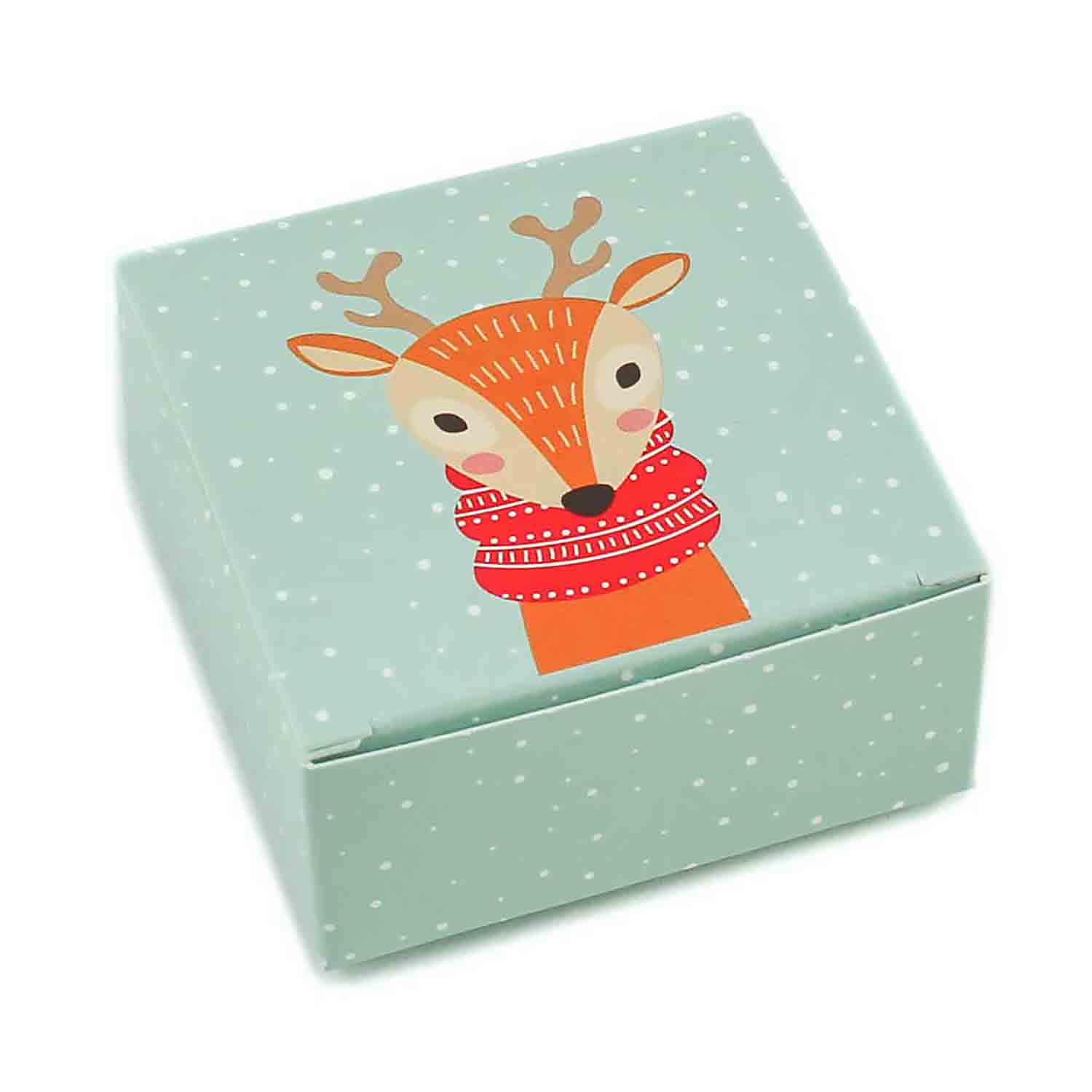 4 pc. Reindeer Candy Box
