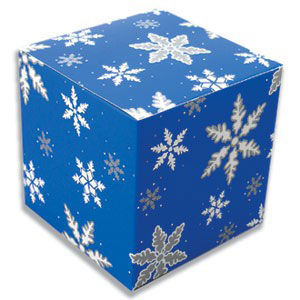 Blue Snowflake Cube Candy Box