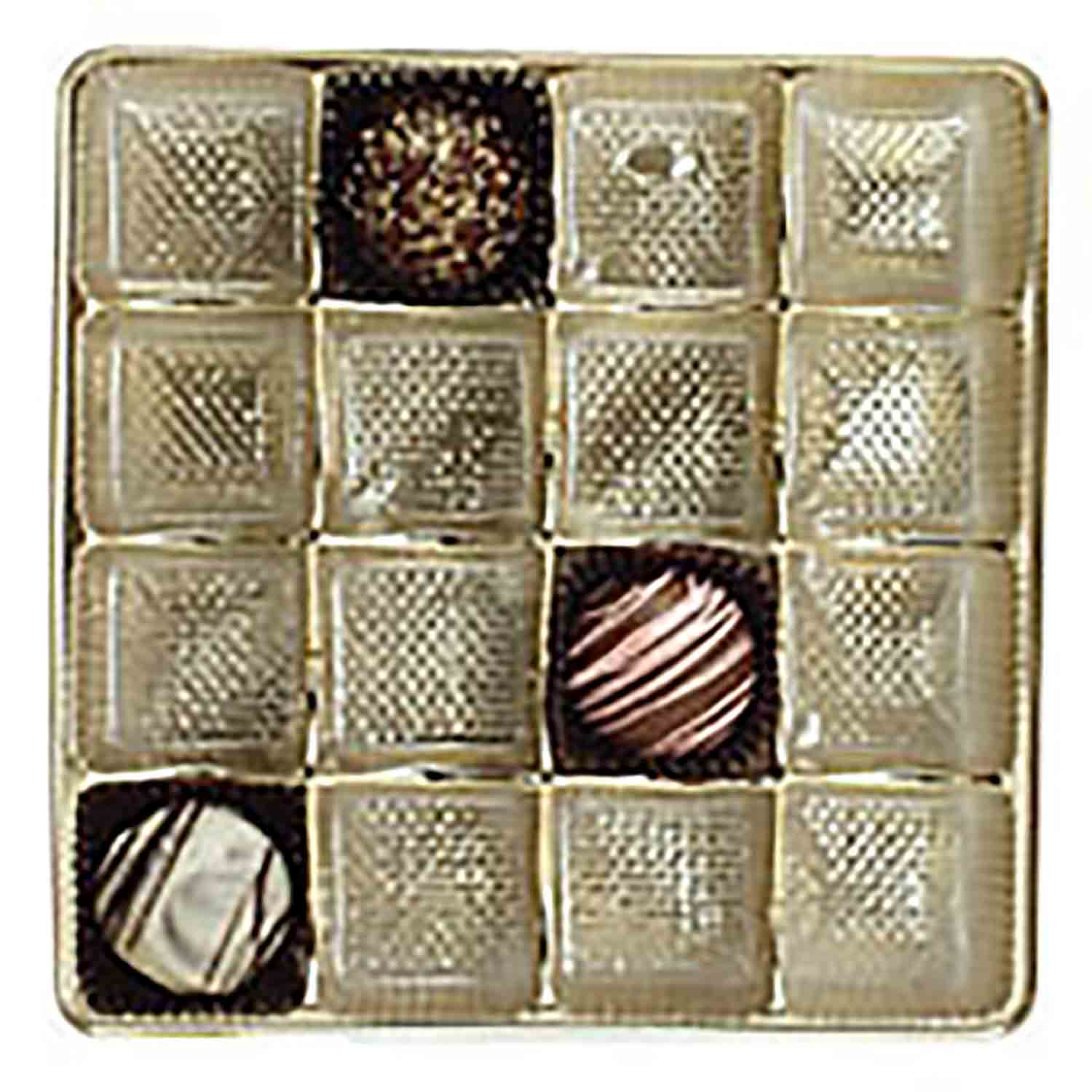 1/2 lb. Box Square Gold Insert,#4 cup, 16 cavities