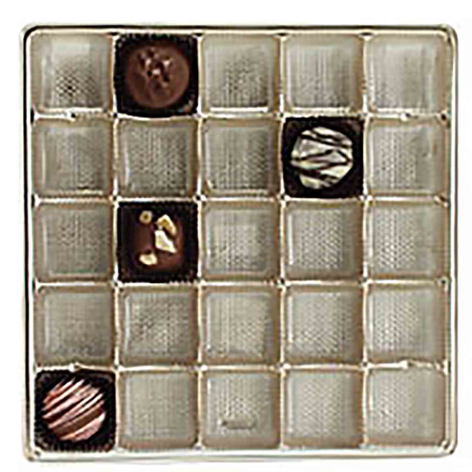 1 lb. Square Gold Insert, #4 cup, 25 cavities