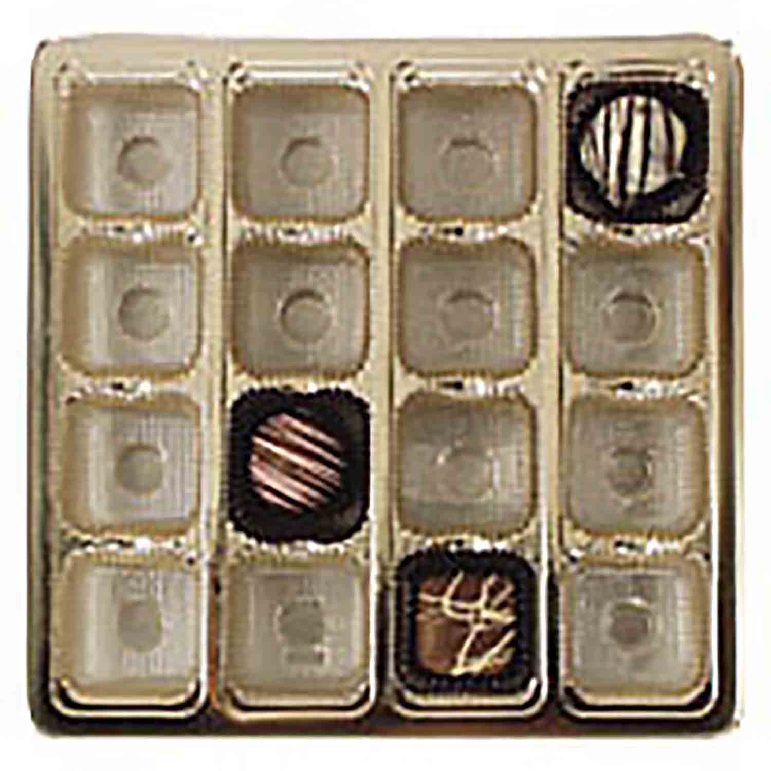 1 lb. Square Gold Insert, #5 cup, 16 cavities